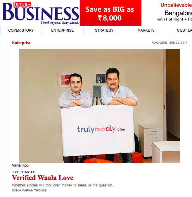 Trulymadly in outlook business